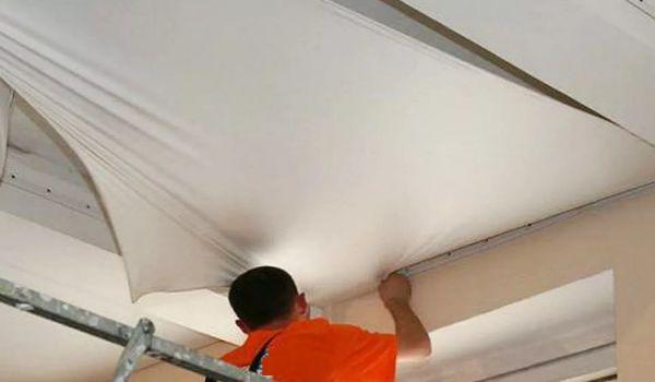 Монтаж тканевых потолков