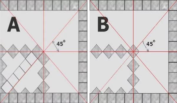 Диагонали плитки