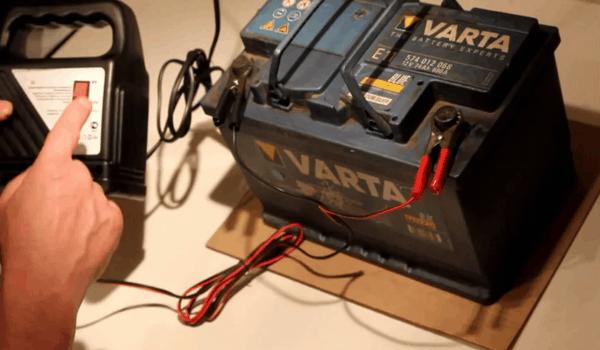 Зарядка аккумулятора 1
