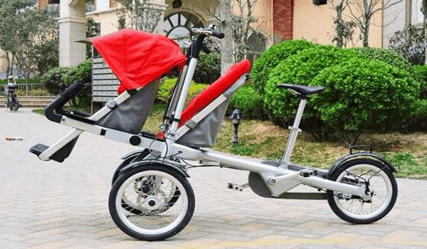 Велоколяска на трех колесах