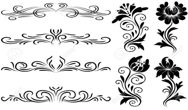 Декорация узорами