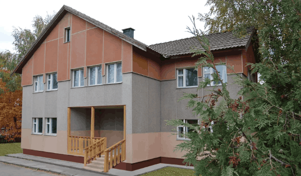 Дом облицован ЦСП